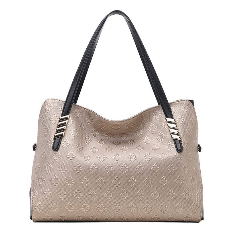 Women Handbag Leather Top Handle Tote Bag Satchel Shoulder Bag for Ladies la maxza gifts for valentine s day leather tote bag for women large commute handbag shoulder bag zipper women s work satchel bag