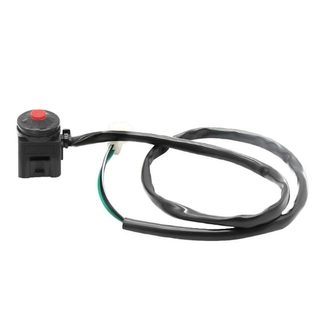 Vodool Universal Motorcycle Motorbike Red Push On Kill Stop Switch Replacement Horn Light Start For