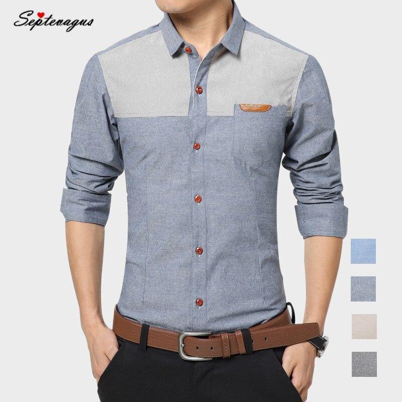 Latest Mens Fashion Brand 2019 Men Shirt Hawaiian Shirts Man High Quality Business Italian Dress Shirt Patchwork Slim Fit Shirt