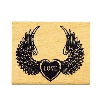 Diy Scrapbooking Love Stamps Vintage Wood Wax Stamps Vintage Retro Romantic Love фото