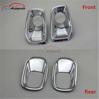 For Jeep Renegade 2015 2016 Car Front Fog Light Frame Rear Tail Fog Lamp Cover Trim Bezel ABS Chrome Decoration Auto Parts