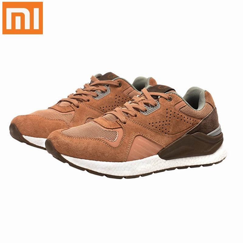 Original Xiaomi Mijia Retro Style Running Shoes Men Pig Suede Mesh Stitching Sneakers EVA Anti torsion