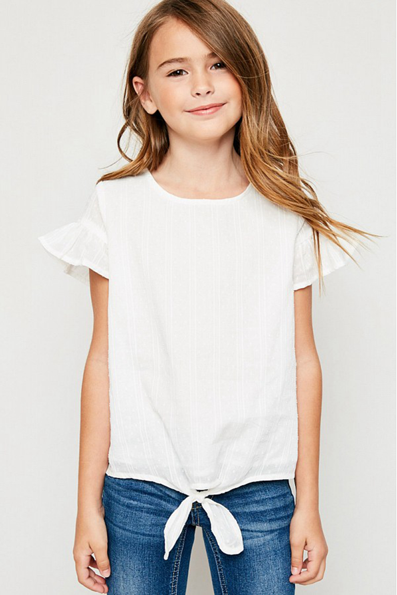Summer Teenager Cotton Ruffles Tees Baby Girl Clothes Fashion Casual Jumper T-shirts 2018 Children Kids Clothing