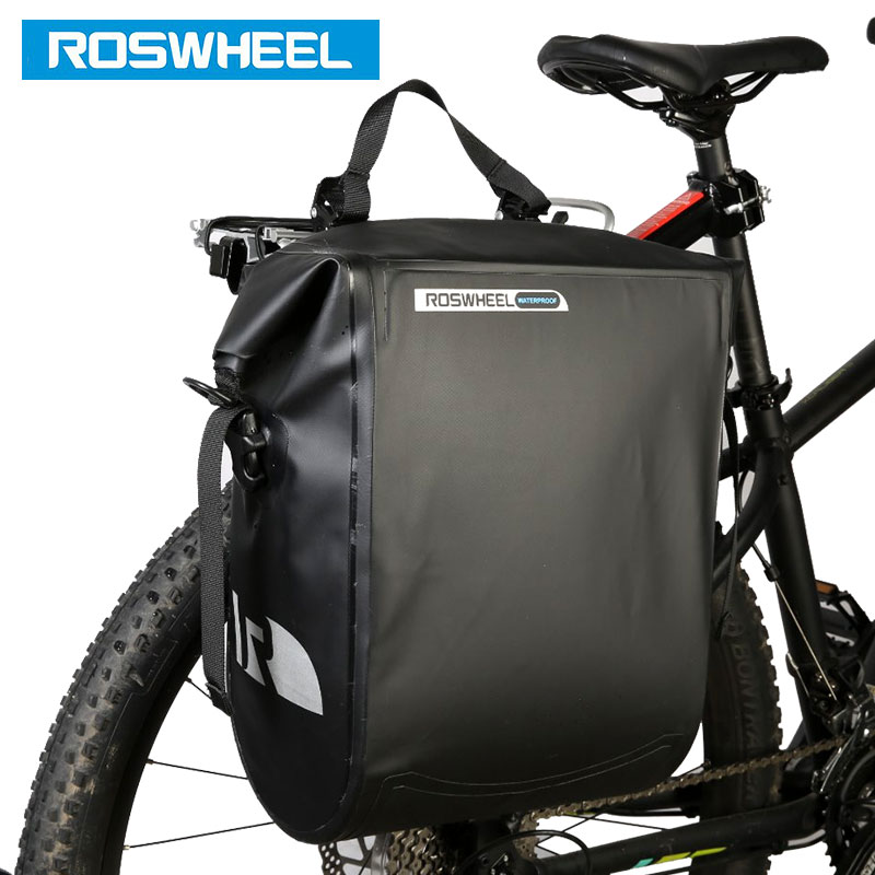 ROSWHEEL Water Proof Bicycle Carrier Bag 20L Rear Rack Trunk Bike Luggage Seat Pannier Outdoor Cycling Saddle Storage 141364