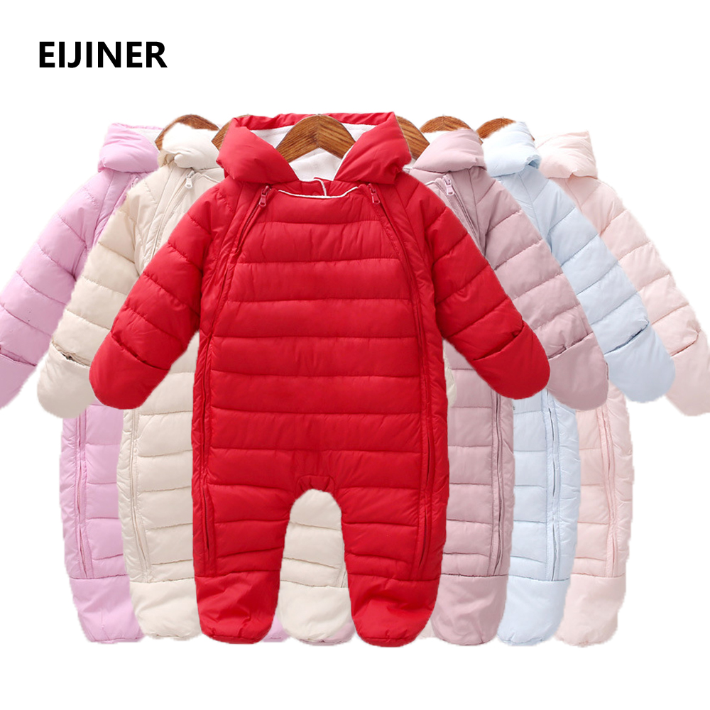 Newborn Baby Rompers Winter 2018 New Baby Girl Boys Clothes Long Sleeve Cotton and Fleece Warm Baby Jumpsuit Kids Baby Outfits paul frank baby boys supper julius fleece hoodie