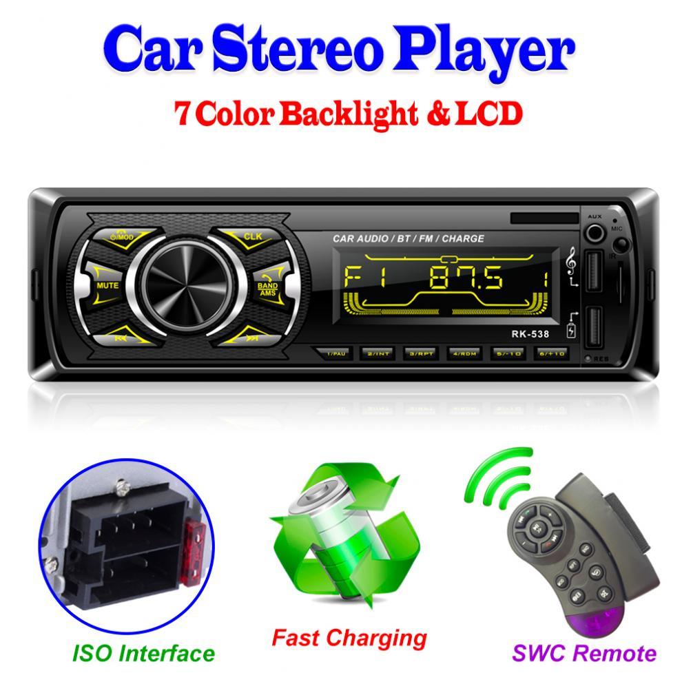 Car Stereo Bluetooth Supports FM Radio Hands Free Call with Card ...
