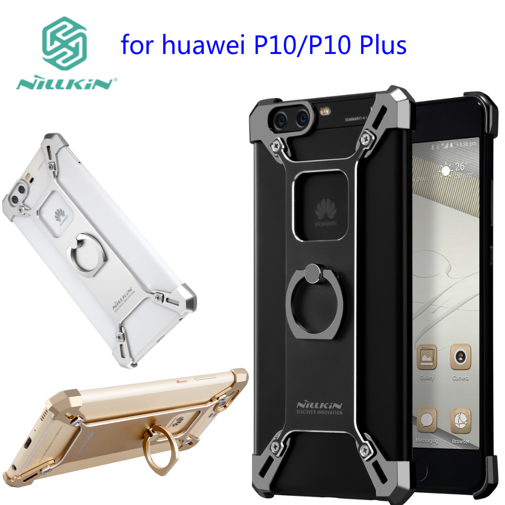 Цена за Huawei p10 плюс Телефон Стенд Крышка Nillkin Барде Металл Жесткий Назад обложка Кольцо Форма Держатель Чехол для huawei P10 чехол бампер
