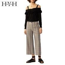 HYH Haoyihui Femme Fashion Popular Tops Slash Neck Sexy Cami Strap Pleated Ruffles Slim Easy Match Knitted Sweater pleated cami night dress