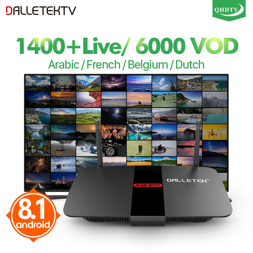 Smart R1 IPTV Arabic French Smart Android 8.1 TV Box QHDTV Code IPTV 1 Year Belgium Dutch France Arabic Tunisia IPTV Top Box belgium culture smart