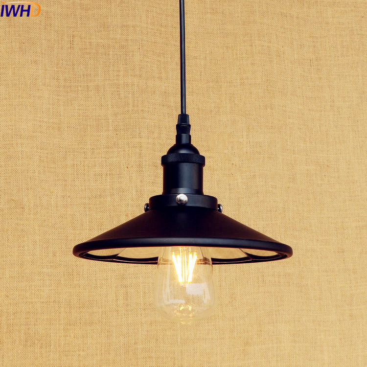 IWHD Black Retro Vintage Lamp LED Pendant Light Edison Bar Coffee Loft Industrial Pedant Lighting Fixtures Suspenison Luminaire america retro loft industrial pendant lamp fixtures edison lamparas vintage hanglamp suspenison luminaire