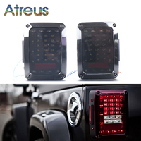 Atreus For Jeep Wrangler Accessories 1Pair Car LED Tail Light Brake Lights 12V 24V USA EU