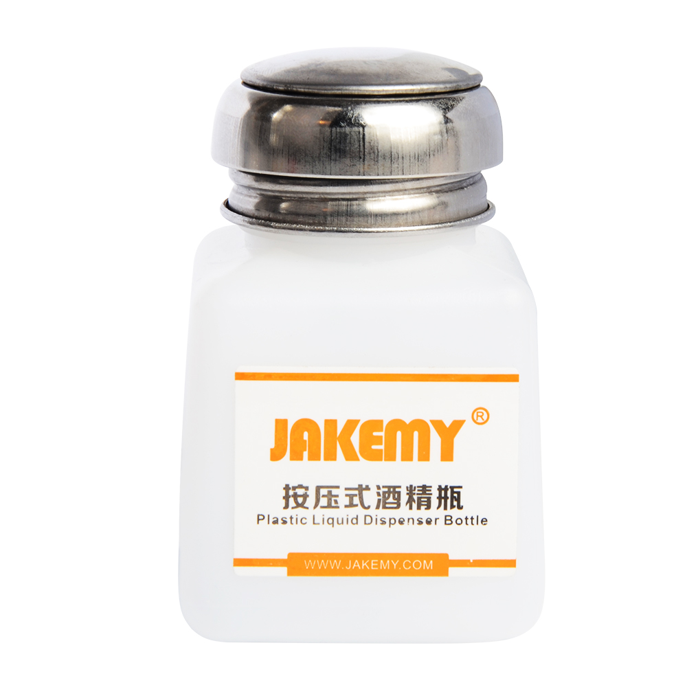 JAKEMY JM-Z10 Liquid Alcohol Press Empty Clear Bottle Portable Plastic Liquid Dispenser Bottle Liquid Pumping Bottle Hot Selling new door ring waterproof 280m long range wireless doorbell wireless door chime wireless bell door bell 48 melodies