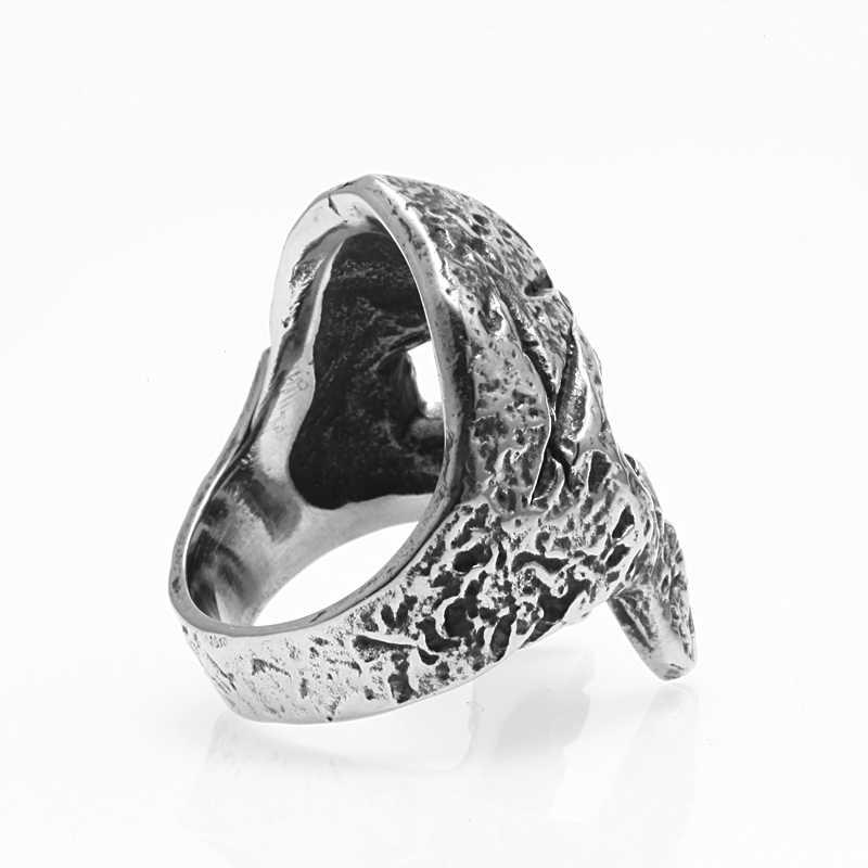 4bd65d2053b18 Mcllroy Ring men/skull/316L stainless steel titanium vintage punk ...