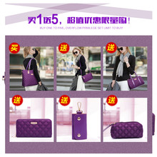 New Fashion Handbags Lingge Six Sets of Sub Package Shoulder Bags Oblique Crossbody Composite Bag
