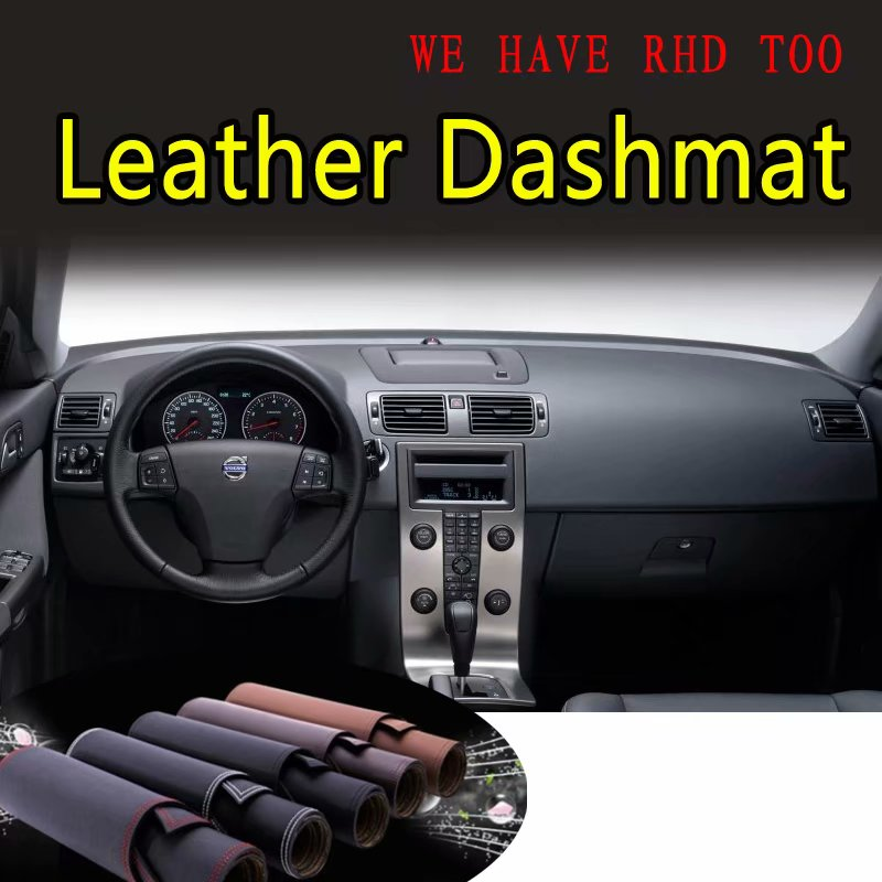 For Volvo C30 S40 V50 2006 2007 2008 2009 2010 2011 2012 Leather Dashmat Dashboard Cover Prevent Sunlight Pad Dash Mat Carpet