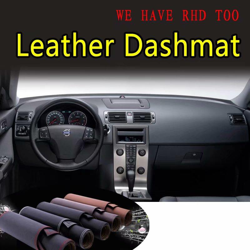 Voor Volvo C30 S40 V50 2006 2007 2008 2009 2010 2011 2012 Lederen Dashmat Dashboard Cover Voorkomen Zonlicht Pad Dash mat Tapijt