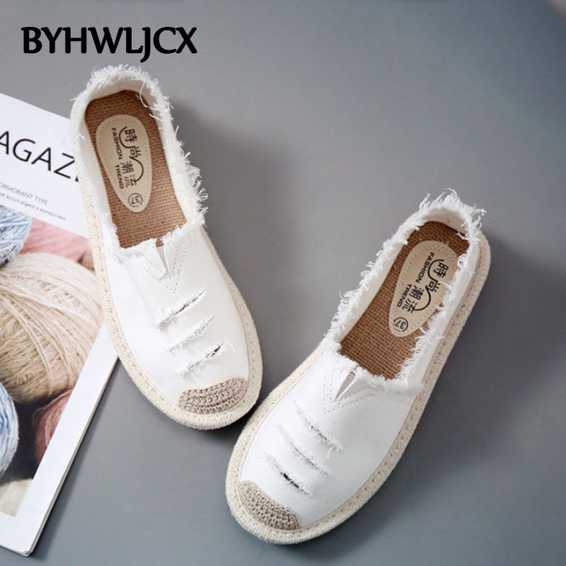 Women Flats Shoes Slip On Ladies espadrilles Lazy Loafers Breathable Female Espadrilles 2019 Spring Footwear new shoes women