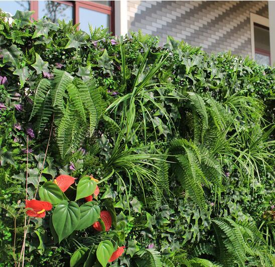Artificial outdoor shrubs privacy hedge plants 1x1m faux for Outdoor wall coverings garden