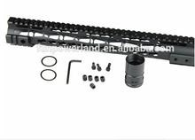Funpowerland Handguard 15 One Piece Free Float Super Slim Quad Rail Keymod Nut Anodize