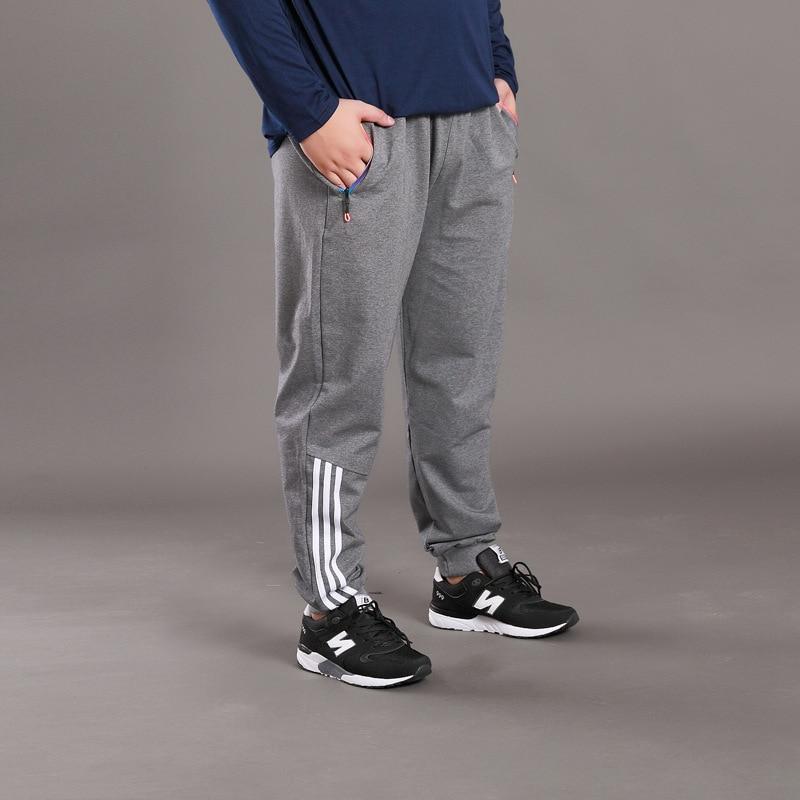 Super Loose Men Casual Pants Brand Harem Trousers Plus Size 8XL Elastic Waist Baggy Jogger Sweatpants Side Stripe Track Pants