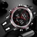 Мужские спортивные часы от бренда Readeel, Роскошные наручные часы от ведущего бренда, водонепроницаемые светодиодные электронные цифровые му...