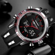 Readeel ยี่ห้อนาฬิกา Mens นาฬิกาแบรนด์หรูผู้ชายนาฬิกาข้อมือนาฬิกา LED กันน้ำ LED อิเล็กทรอนิกส์ชาย relogio masculino