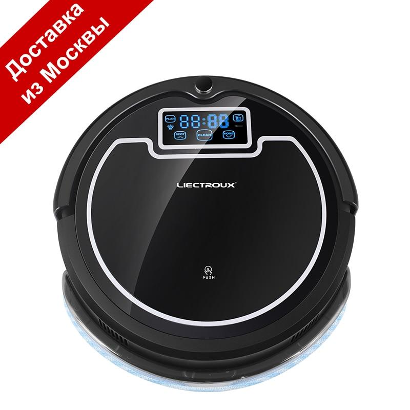 LIECTROUX B2005 PLUS Ad Alta Efficienza Robot Vacuum Cleaner wash Casa, Serbatoio di Acqua, LCD, UV, wet & Dry, Pianificazione, Virtual Bloccante