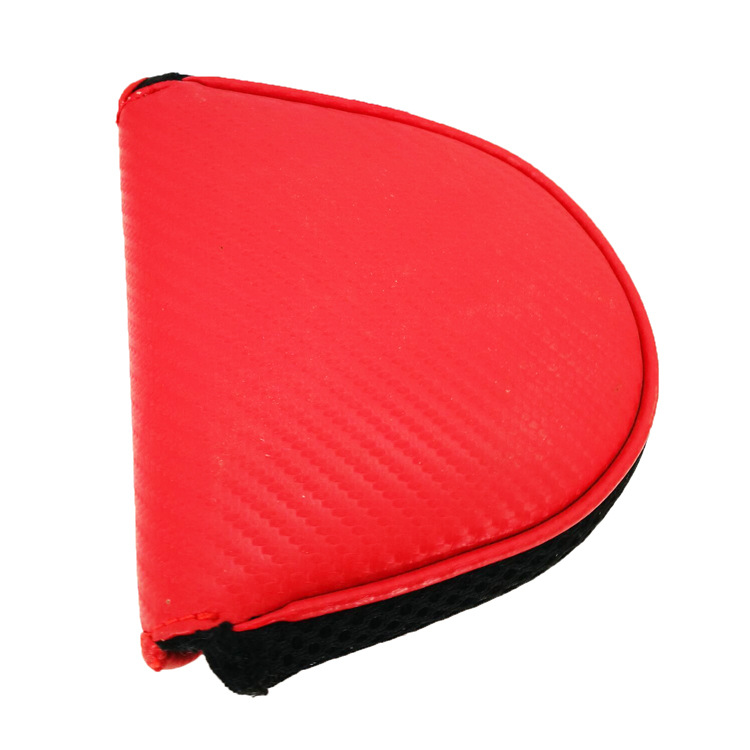 Golf Putter Club Headcover PU Leather Golf Mallet Head Cover Black Red Solid 2Colors5