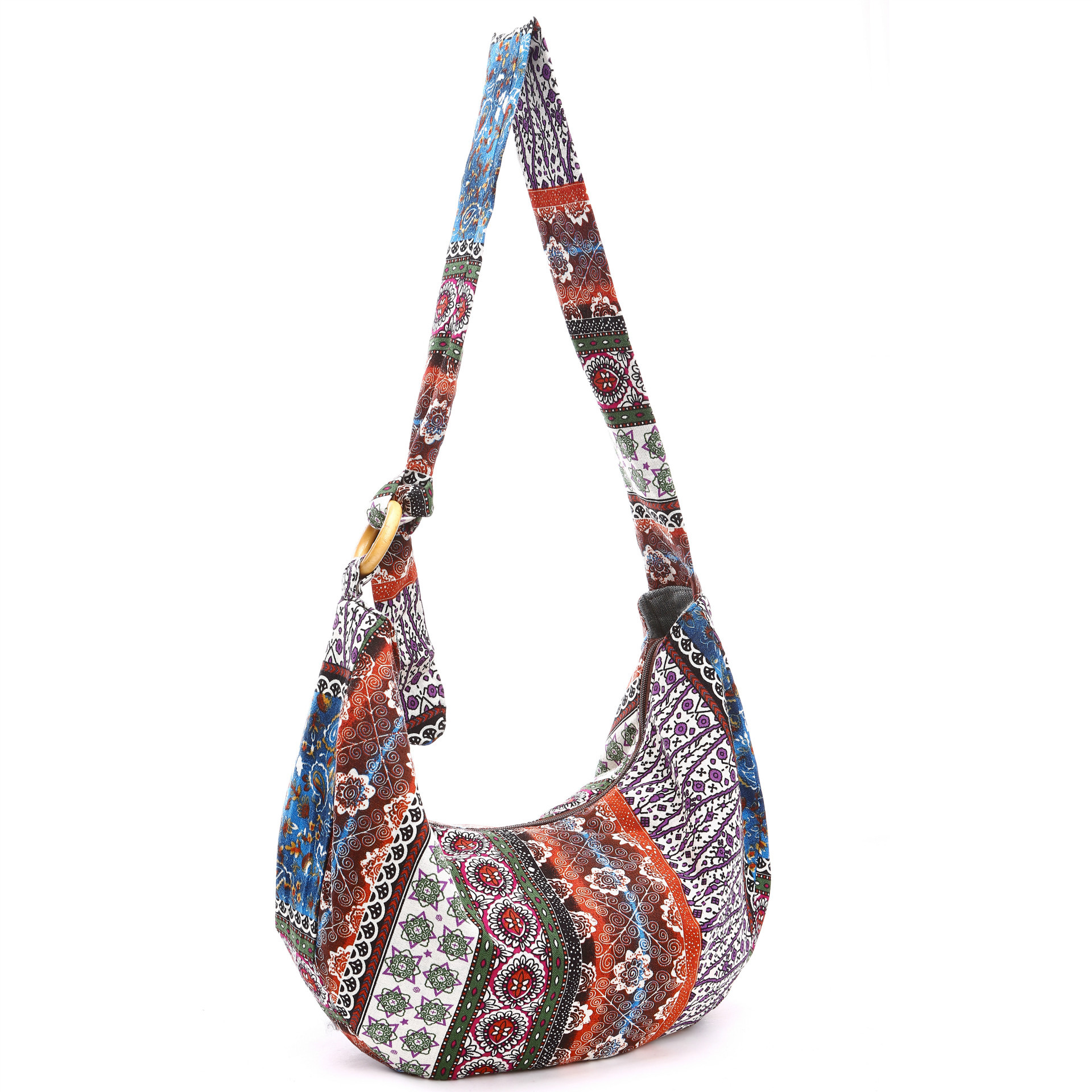 Canvas Broken Flowers Lady's Big Cloth Bag Messenger Bags Slim Crossbody Shoulder Bags Handbag Small Cross Body Bags-15