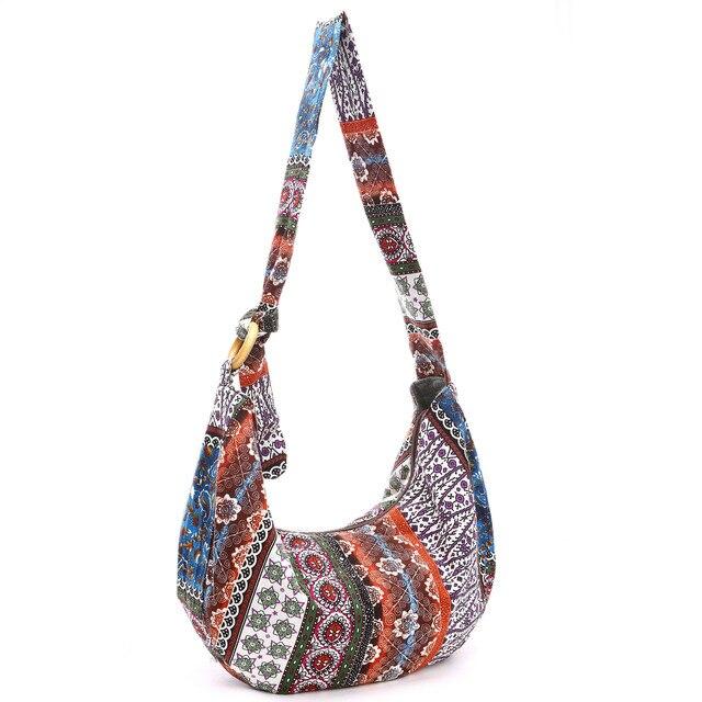 Canvas Broken Flowers Lady S Cloth Bag Messenger Bags Slim Crossbody Shoulder Handbag Small Cross