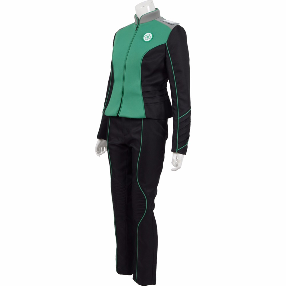 The Orville Medical Department Claire Finn Uniform Cosplay Costumes 2017 Starfleet Green Officer Suits Halloween Duty Outfit
