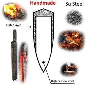Image 5 - سكين الطاهي اليدوية مزورة عالية الكربون يرتدون الصلب الصينية الساطور المهنية المطبخ اللحوم الخضروات تقطيع تقطيع الطبخ