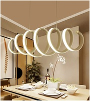 Creative Spiral LED Chandelier Aluminum Acrylic Home Dining Bedroom & Office & Commercial Lighting Ceiling lights 110 240V