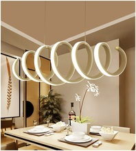 Simple Home Furnishing spiral chandelier aluminum acrylic ceiling bedroom dining study chandelier lamp