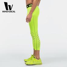 Kompresji spodnie męskie rajstopy siłownia trening odzież sportowa legginsy najlepsze bieganie spodnie do ćwiczeń fajne spodnie treningowe na siłownię rajstopy tanie tanio Pełnej długości vansydical sports tights Lycra Poliester Mężczyźni Pasuje prawda na wymiar weź swój normalny rozmiar