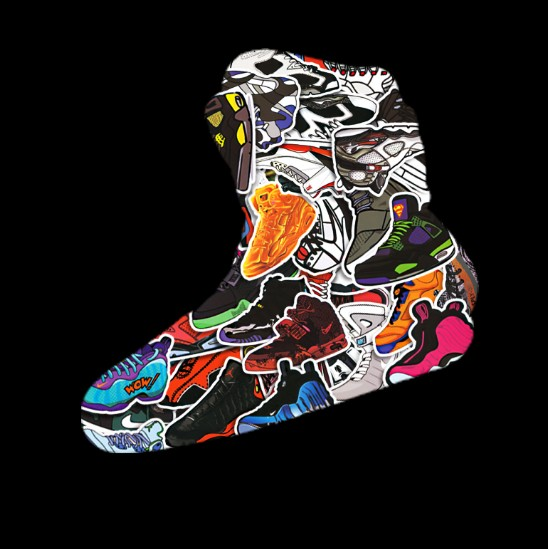 Aj Shoes Kanye Mag Jordan Fashion Decorate Sticker Trunk Use Car Use - Car shoe usa