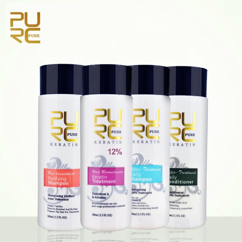 Лечение кератиновых волос PURC 12% formalin предотвращает сухость волос и ежедневный шампунь и Кондиционер 100 мл