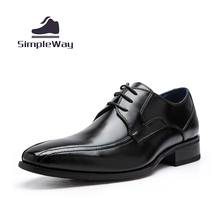 Mens casual shoes luxury genuine leather lace up flats business formal shoes dress wedding brogues oxfords shoes zapatos hombre1