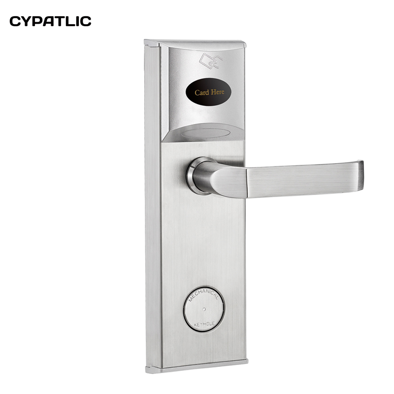 Smart design RF card digital door lock Intelligent hotel lock system ID key card lock intelligent rf card lock system for hotel electric lock