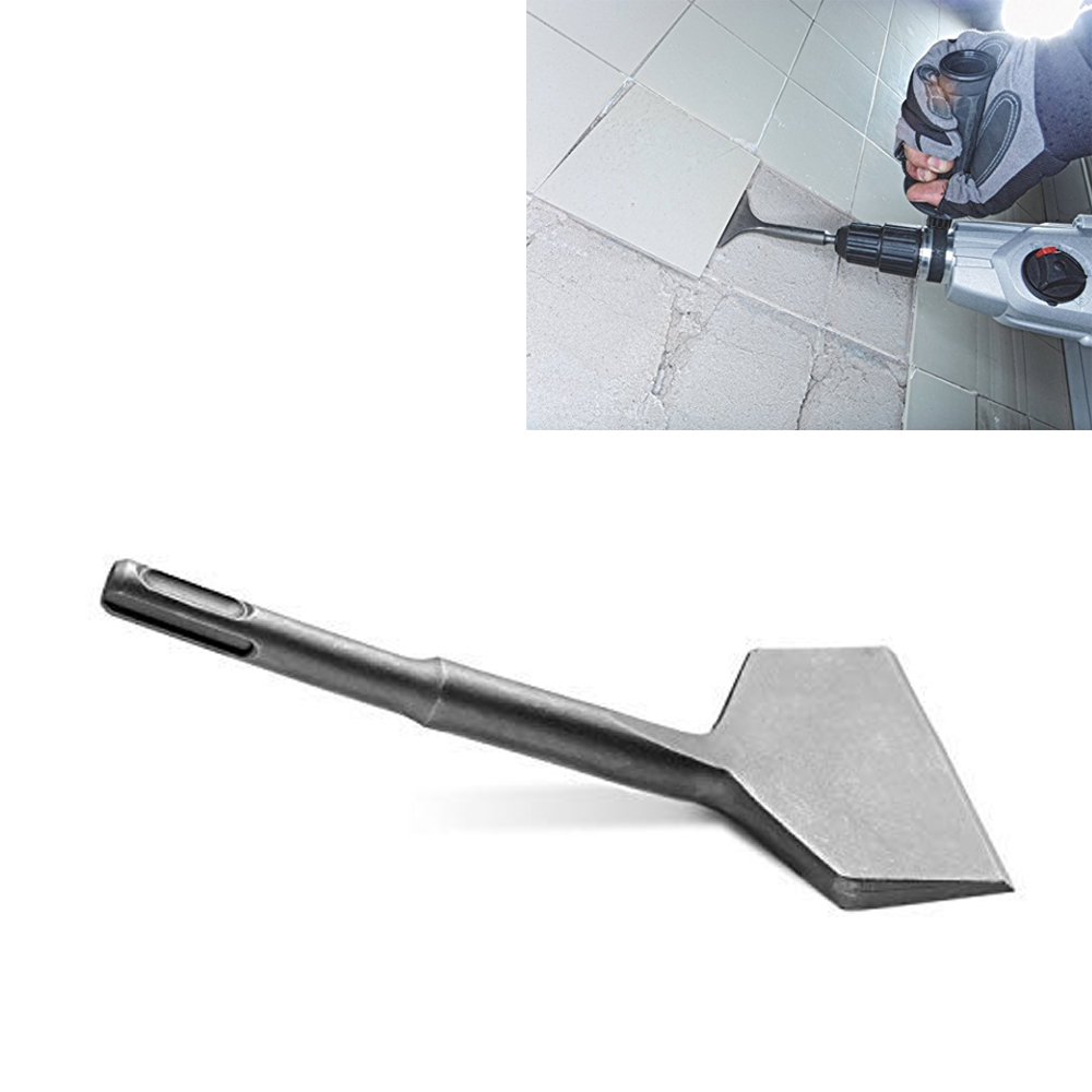 SDS PLUS Shank 3-in Wide Electric Hammer Chisel Angled Heavy Duty Bent Tile Chisel (3'' X 7'') стоимость