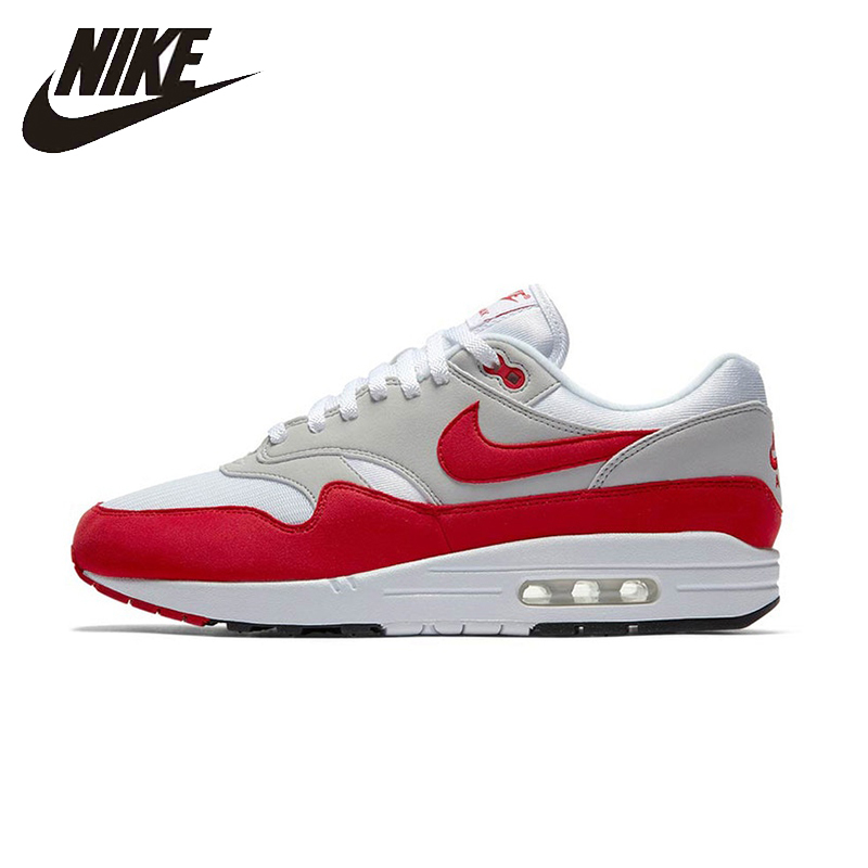 NIKE Air Max 1 OG Original Mens Running Shoes Mesh Breathable  Footwear Super Light Support Sports Sneakers For Men Shoes nike original new arrival mens kaishi 2 0 running shoes breathable quick dry lightweight sneakers for men shoes 833411 876875
