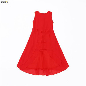 Image 5 - Robe dété pour grandes filles en mousseline de soie, tenue de soirée, élégante et irrégulière, sans manches, pour enfants de 5 6 7 8 9 10 11 12 ans, 2018