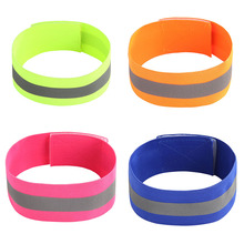 1 Piece 4cm Wide Reflective Belt Elastic Wristbands Reflection Support Band Night Running Safety Wrist Ankle Straps for Cycling