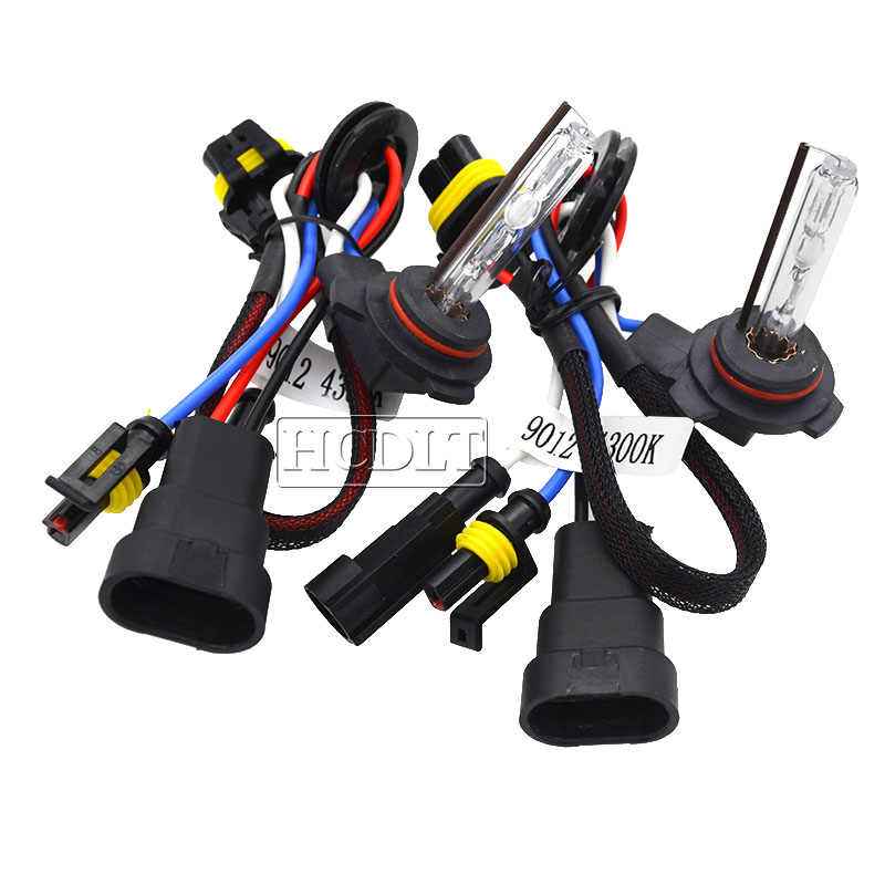 HCDLT 12V 35W 9012 HIR2 Xenon HID Bulb 55W 6000K 8000K 5000K 4300K Car Light HID Headlamp Bulb For Kit Xenon 9012 Auto Headlight
