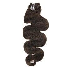 Moresoo объемная волна машина Remy(Реми), Пряди человеческих волос для наращивания толстые пряди для наращивания на заколках на всю голову, 7 шт./компл. 100 г