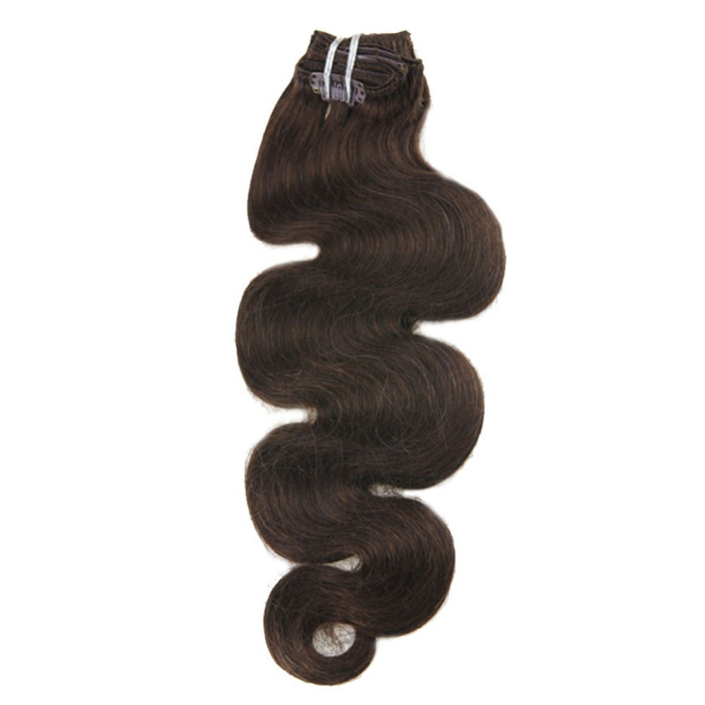 Moresoo Body Wave Machine Remy Clip In Human Hair Extensions Thick Full Head Clip In Hair Extensions 7Pcs/Set 100g