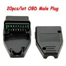 20 adet/grup OBD erkek fişi ile PCB OBD2 16Pin konnektör OBD II adaptörü OBDII konnektörü J1962 soket başlı araba için teşhis değiştirmek