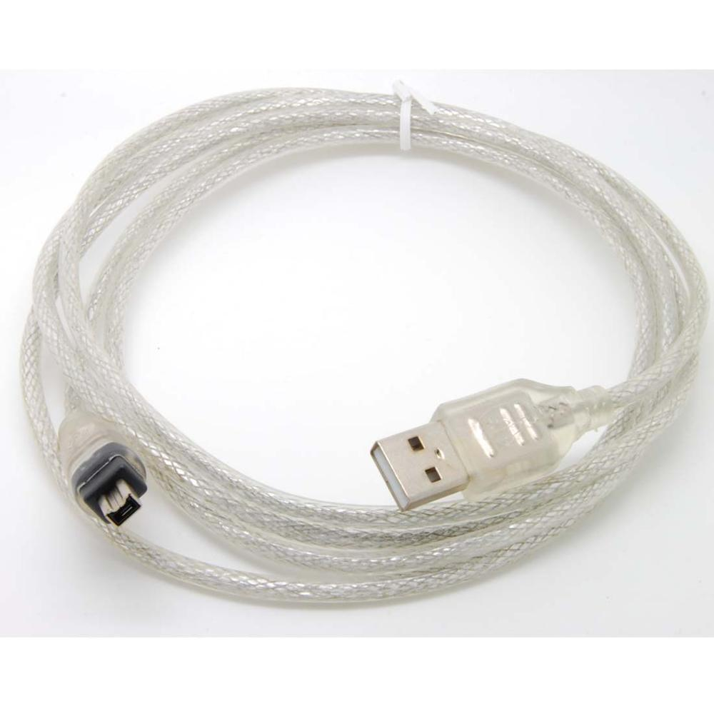 4feet 4FT USB2.0 Male to 4 Pin Firewire IEEE 1394 Lead Data Transfer Cable Extension Adapter Converter forMINI DV HD to edit <font><b>pc</b></font> image