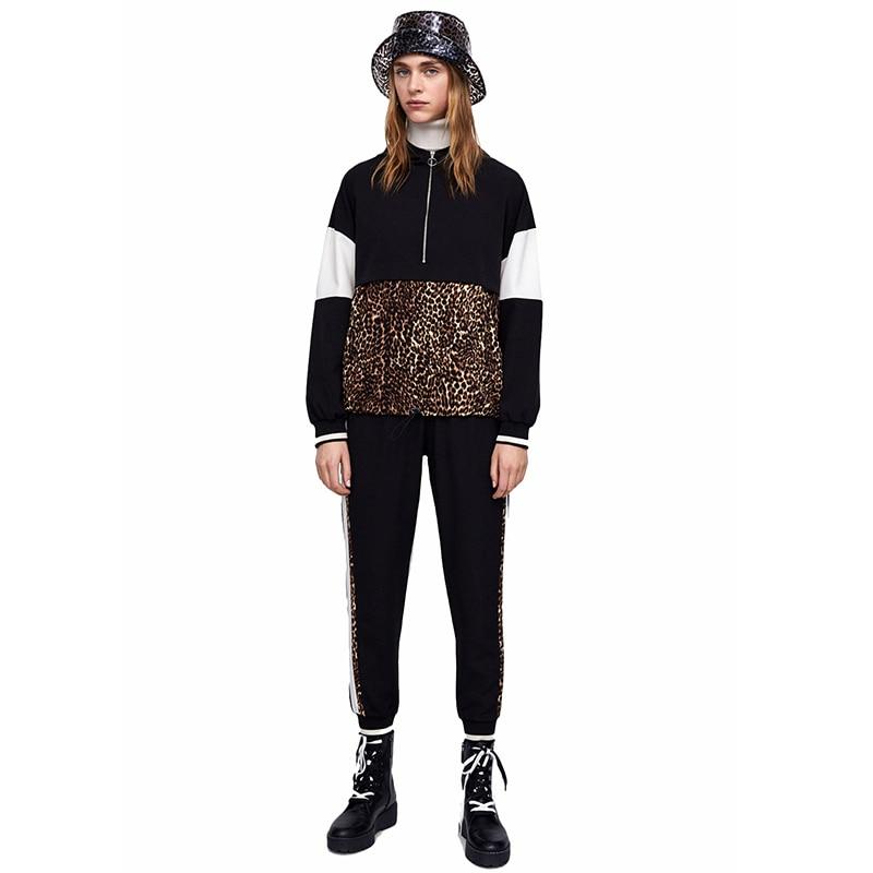Sweat Femmes Été De Décontracté pièce À Noir Et Vêtement Costume Deux 2018 Veste Sport 2 Vêtements Pantalon Capuche HrZHqPw
