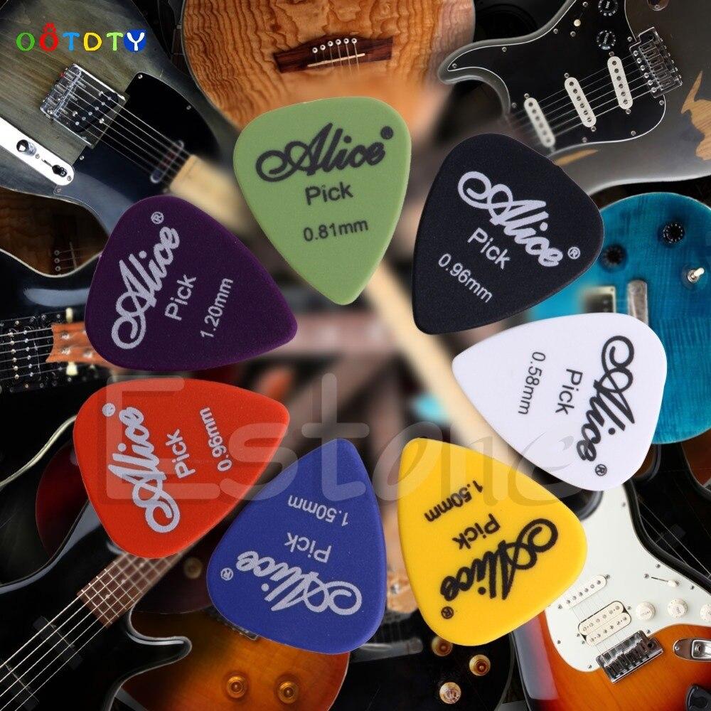 Acoustic Electric Guitar Picks Plectrum Various 6 thickness w/ Pick Box 100pcs Jul17_25